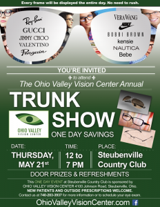 Ohio Valley Vision Center Trunk Show Flyer